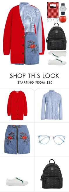"""Tried and True: School Wardrobe Staples"" by beebeely-look ❤ liked on Polyvore featuring Chloé, Oliver Peoples, MCM, BackToSchool, outfit, WardrobeStaples, back2school and zaful"