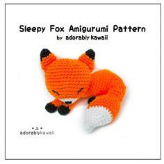 Sleepy Fox Amigurumi  PDF Crochet Pattern par adorablykawaii