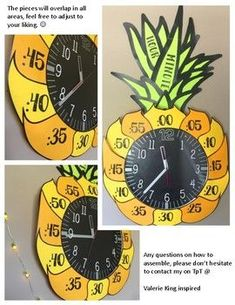 Pineapple Clock Number Labels by Valerie King inspired Classroom Clock, 3rd Grade Classroom, Classroom Setting, Classroom Crafts, Classroom Setup, Classroom Design, Classroom Displays, Kindergarten Classroom, Future Classroom