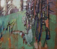 "Memories of Fall Days. 2015. Pastel & Oil. @ 10.5"" x 12.5."" Casey Klahn."