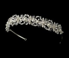 swarovsky pearl wedding bridal tiara headband headpiece