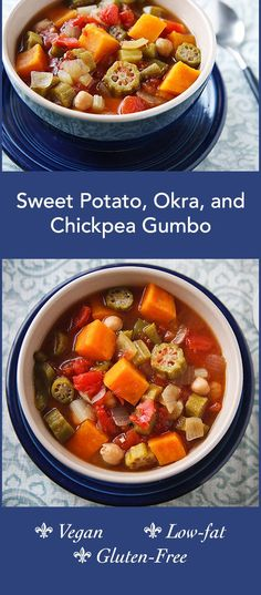 ... for richness. Sweet potatoes and chickpeas make it hearty and filling