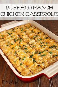 Buffalo Ranch Chicken Casserole Recipe on Yummly. @yummly #recipe