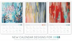 $20 purchasing details at pippinandpearl.com #art #calendar #painting #abstract #erincooper