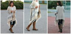 I 'm crazy over my fringe boots, and this aztec fringe cardigan. There are so many ways to add it to your wardrobe.