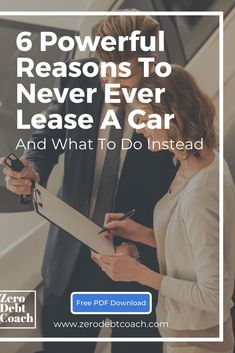 Leasing a car is a great way to flush your money straight down the toilette. In case one reason isn't enough, here are 6 reasons to never ever lease a car. Ways To Save Money, Money Tips, Money Saving Tips, Financial Tips, Financial Planning, Goal Board, Managing Your Money, Budgeting Tips, Student Loans