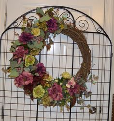 Mothers Day Gift, Summer, Spring, Door Decor Wreath, Peony, Old World Roses,  Berries, Eucalyptus, Grape Vine on Etsy, $87.00