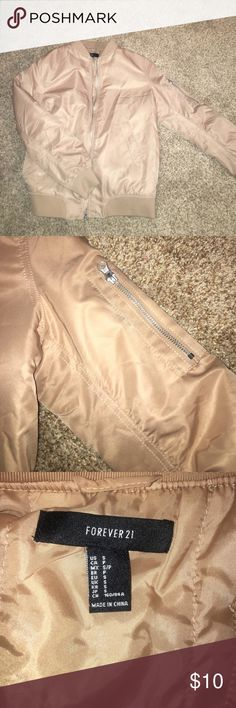 Baby pink bomber jacket Baby pink bomber, lightweight Forever 21 Jackets & Coats