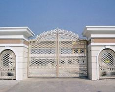 Deciding a gate design for small house often gets perplexing. Get some beautiful simple gate design ideas that would make your house look gracious. Home Gate Design, House Main Gates Design, Front Gate Design, Entrance Design, Small House Design, Front Gates, Entrance Gates, House Entrance, Entrance Ideas