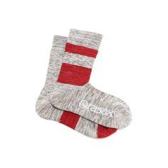 Rasox High Grey Striped Right Angle Socks $30