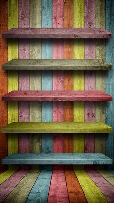 Wallpaper shelves for by PimpYourScreen on deviantART One Piece Wallpaper Iphone, Apple Logo Wallpaper Iphone, Iphone Homescreen Wallpaper, Iphone 5 Wallpaper, Cellphone Wallpaper, Lock Screen Wallpaper, Mobile Wallpaper, Vintage Flowers Wallpaper, Colorful Wallpaper