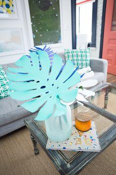 Painted Palm Leaves DIY