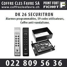 DK 26 SECURITRON apporte sécurité et résiste au vandalisme, dans un encombrement réduit  #Pointfortfichet #Geneve #securite Power Strip, Electronics, Consumer Electronics
