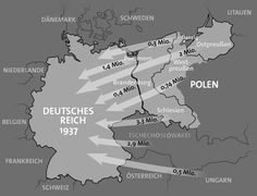Map of the deportations of Germans after the War.