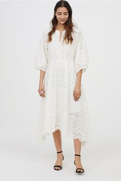 Dress - White - Ladies | H&M GB 1