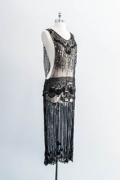 Fierce 1920s Sheer Overdress. Pure drama. #BeautifullyYou