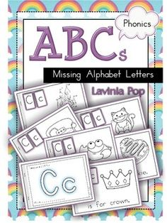 Missing Alphabet Letters - Cut and Paste Readers. Great way to reinforce uppercase and lowercase letter pairs, as well as beginning sounds. Letter tiles for cutting and pasting are included in the unit, but you could also use ink stamps, letters cut out from magazines, or have children write the letters.