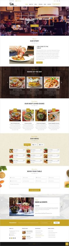 Belle is an amazing responsive bootstrap #HTML #template for #Restaurant, #Cafe, Cakes, Cooking, Bakeries, Pub & Sweets or Food Business website download now➩ https://themeforest.net/item/sultan-one-page-business-wordpress-theme/17090037?ref=Datasata