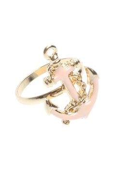 Anchor Ring in Pink | T.I.L. Darling