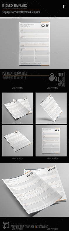 Set of Original Various Graphic Styles for Design Adobe - accident report template