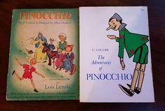 Lot 2 Pinocchio By C. Collodi First Edition 1946 Illustrated Book Lois Lenski