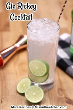 The Gin Rickey is a refreshing and delicious cocktail that has been around for ages. The classic has stood the test of time because it's simple and delicious. It's made with gin, lime and club soda or seltzer for a must- try party drink. Cocktails For Parties, Easy Cocktails, Classic Cocktails, Cocktail Recipes, Drinks Alcohol Recipes, Yummy Drinks, Alcoholic Drinks, Club Soda Drinks, Orange Juice Cocktails