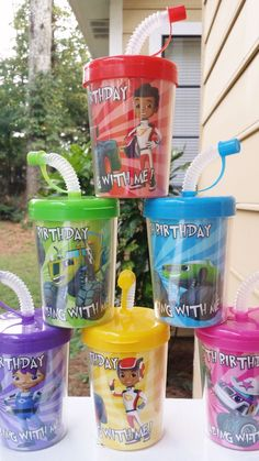 *PLEASE READ ENTIRE LISTING BEFORE PURCHASING* 6 Blaze and the Monster Machines Personalized Party Favor Cups Package Includes: · 6 Blaze and the Monste