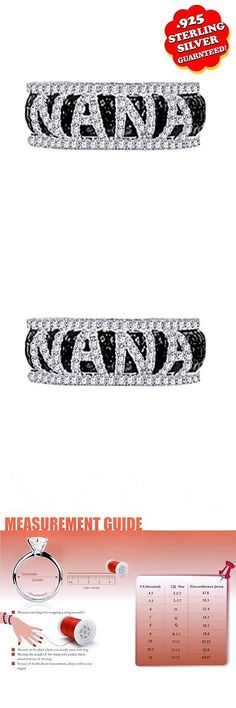 Other Wedding Jewelry 164311: 18K White Gold Over Black And White D/Vvs1 Nana Ladies Ring -> BUY IT NOW ONLY: $139.99 on eBay!