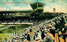 """Wayne Field Base Ball Park Toledo Ohio"" Postcard With Error in Name (Published by Boutelle, Toledo, Ohio)"