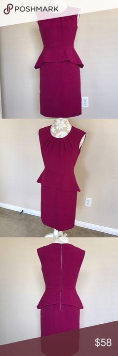 "Catherine Malandrino peplum dress Brand new with tag. Waist 26"", armpit to armpit 26"", length 36"" 63% polyester 33% rayon 4% spandex, lining 100% polyester Catherine Malandrino Dresses Midi"