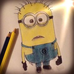 Super excited for Despicable Me 2! I want a Minion! 'Pin' my drawing if you want one too!
