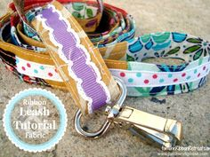 Scrap Ribbon and Fabric Dog Leash - The Ribbon Retreat