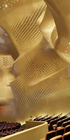 Guangzhou opera house, one of most amazing works by Zaha Hadid Zaha Hadid Architecture, Parametric Architecture, Modern Architecture Design, Chinese Architecture, Classical Architecture, Futuristic Architecture, Amazing Architecture, Opera House Architecture, Zaha Hadid Projects
