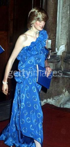9 nov 1982: Princess Diana attends a Fashion Show and Dinner, at The Guildhall in London in aid of the charity Birthright