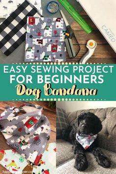 If you're looking for an easy sewing project, this Dog Bandana is just right for you! Within minutes, you'll be making various bandanas to dress up your beloved pet dog for a different style each day. Easy Sewing Project For Beginners: Dog Bandana  #HowToMakeADogBandana #DogBandanaTutorial