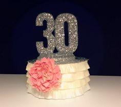 CAKE TOPPER 30th BIRTHDAY Anniversary by OHONEFINEDAY on Etsy, $27.90