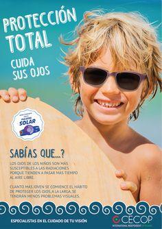 Campaña CECOP de protección solar en la #vista niños