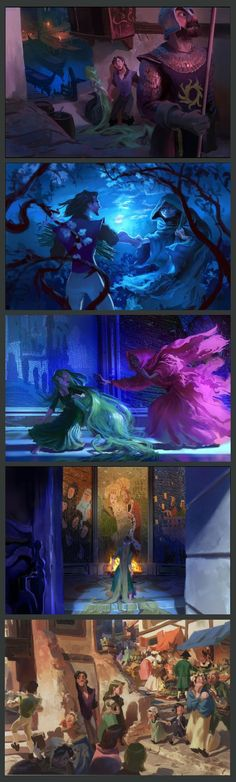 Paul Felix - Tangled Concept Art. These are even more beautiful than the movie: