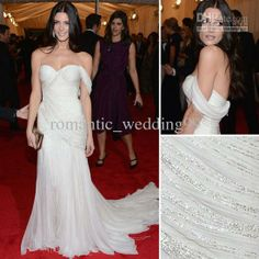 Wholesale Ashley Greene Stunning Ivory Mermaid Celebrity Gown At Met Gala Red Carpet Formal Evening Dresses, Free shipping, $163.52-176.96/Piece | DHgate