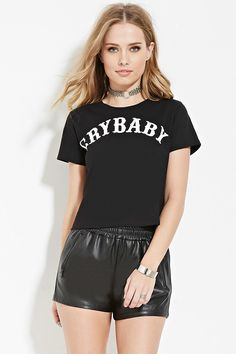 Forever 21. Black Cry Baby Graphic Tee