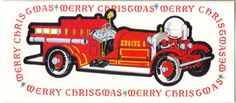 Fire Truck Merry Christmas Cards