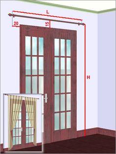 prise de mesures rideaux pour porte-fenêtre