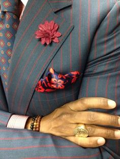 C/o: Bespoke Couture File under: Suits, Bespoke, Pocket squares, Ties, Pin stripes, Pins