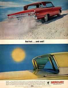 1963 Mercury Marauder 390 V8 car print ad vintage by Vividiom, $9.00