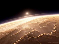 火星の日の出