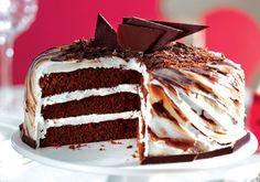 O bolo mesclado além de lindo, é magnífico! Perfeito para as festas de aniversário.
