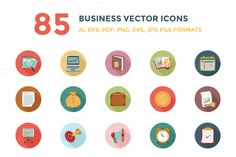 85 Business Vector Icons by Creative Stall on @creativemarket