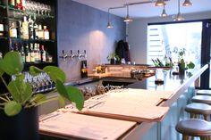 KOLONIHAGEN   Frogner, Oslo - Foodtech Lighting System, Oslo, Hygge, Restaurant Bar, Geometric Shapes, Beams, Bespoke, Kitchen, Table