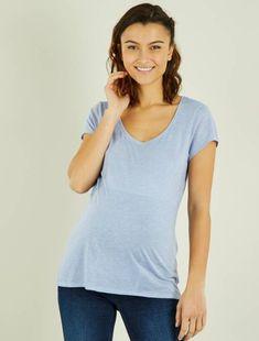 8b3ab05c5 Camiseta premamá de algodón lila Premama - Kiabi