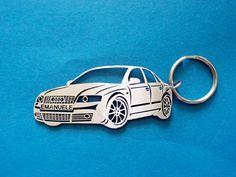 Audi A6 C6 Personalized Keychain Keychain by GuestFromThePast